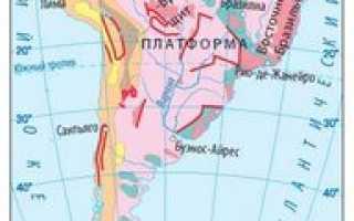 Горы Анды в Южной Америке. Высота, возраст, характеристика, тектоническая структура, как образовались