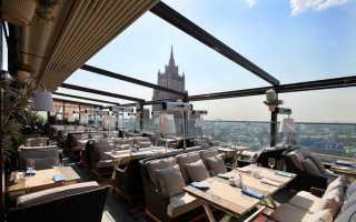 Рестораны Москвы с панорамным видом в центре, Москва Сити с террасой. Рейтинг 2021