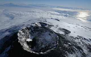 Вулкан Эребус на карте в Антарктиде. Высота, географические координаты, где находится