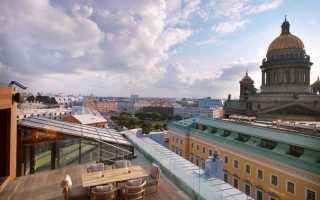 Лучшие рестораны Санкт-Петербурга: с панорамным видом на крыше, в центре города, с кальяном, детской комнатой
