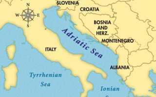 Адриатическое море на карте мира. Где находится, какие страны омывает, температура воды, курорты, достопримечательности