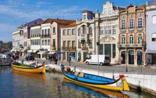Авейру, Португалия. Достопримечательности города на карте, фото, что посмотреть туристу
